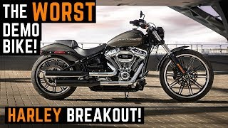 The WORST Demo Bike! 2019 Harley Davidson Breakout 114 Monster Muscle Bike Test Ride Review Demo