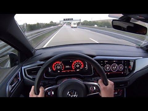 2019 VW Polo GTI - Autobahn 252km/h top speed - POV