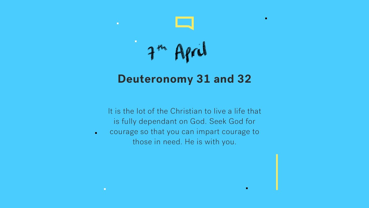 Daily Devotion with Tim Jones // Deuteronomy 31 and 32 Cover Image