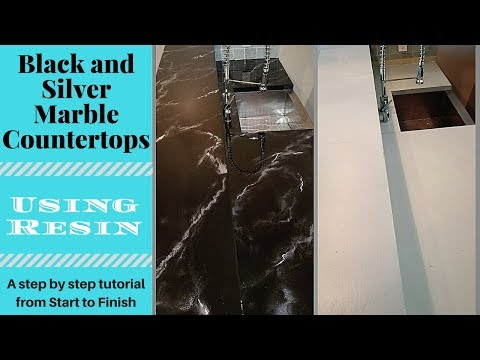 STEP BY STEP Black Marble Resin Countertops IN DEPTH