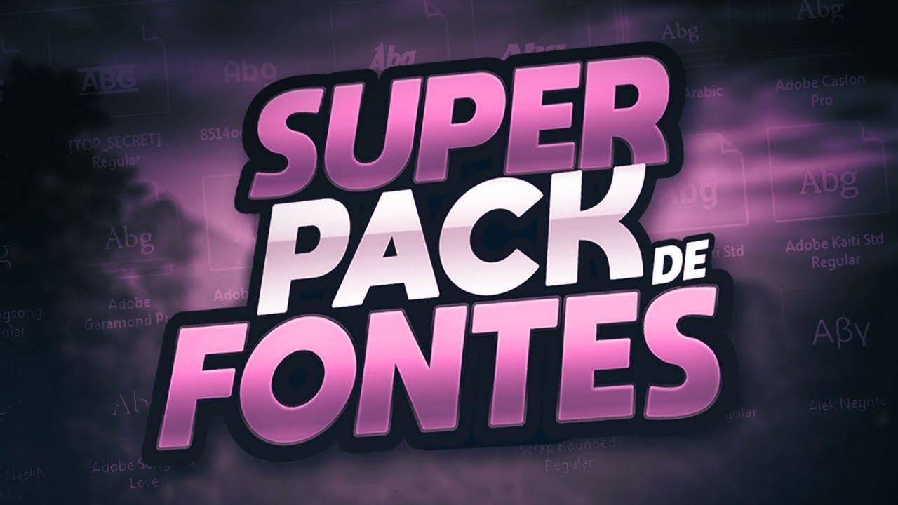 SUPER PACK DE FONTES PARA ANDROID E PC 2019