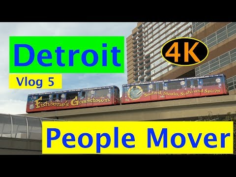 DETROIT PEOPLE MOVER - JOIN ME FOR A RIDE - 4K