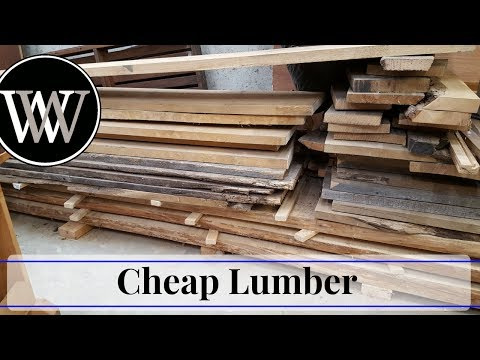 Where to Find Cheap or Even Free Lumber for Hand Tool Woodworking