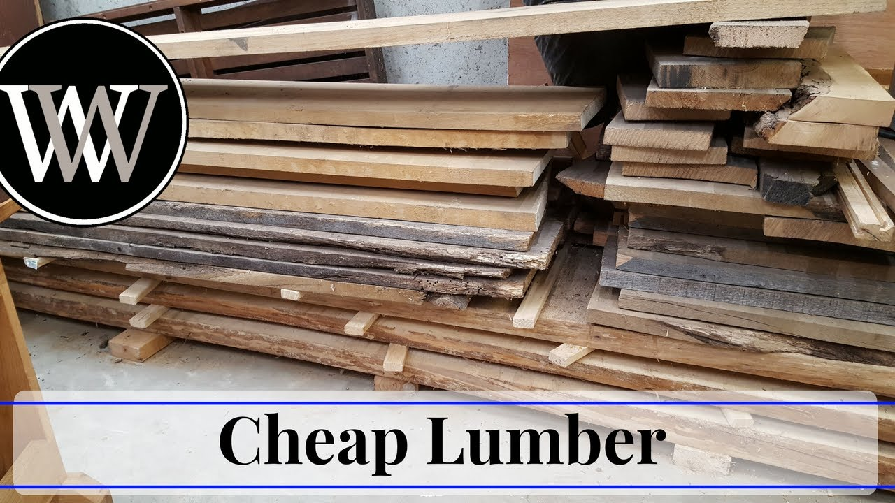 Where To Find Cheap Or Even Free Lumber For Hand Tool Woodworking Youtube