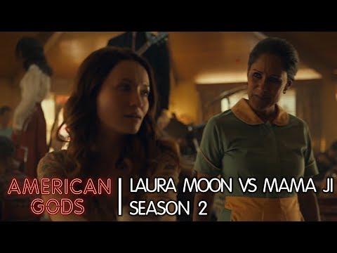 Laura Moon Vs Mama Ji | American Gods - Season Two