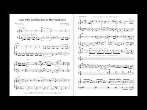 Carol of the Bells / God Rest Ye Merry Gentlemen (Easy Piano)
