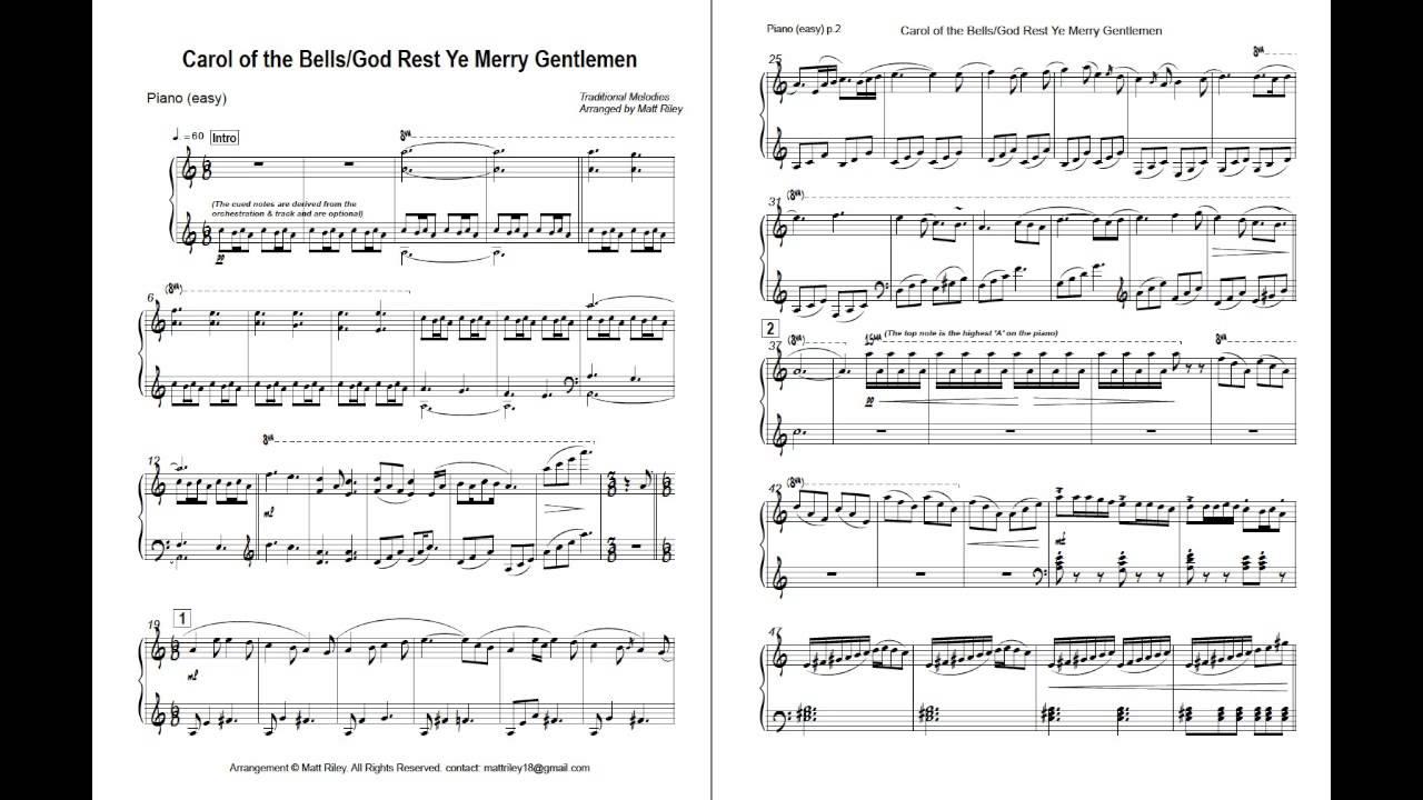 carol of the bells easy piano sheet music pdf