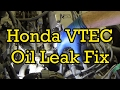 Honda Accord VTEC Solenoid Oil Leak Fix (Without Opening Up Coolant System) 1997 (1994-1997 Similar)