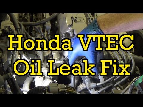 Honda Accord VTEC Solenoid Oil Leak Fix (Without Opening Up Coolant System) 1997 (1994-1997 Similar)