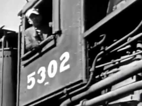 """The Steam Locomotive"" -   1940's New York Central RailRoad Film"