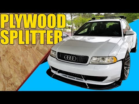 PLYWOOD AERO : MAKING A FRONT SPLITTER FROM WOOD