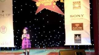 Sacha auditioning for the Kidz Superstar 2013 Contest in Dubai Mall
