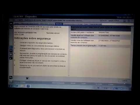 Programação Módulo Motor, EZS, EVL, Mercedes W 204, Kompressor e CGI.