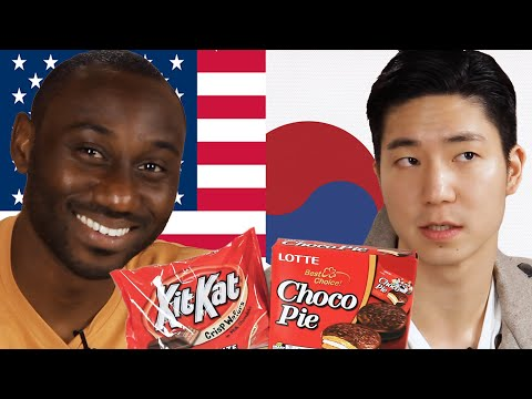 Americans & Koreans Swap Snacks