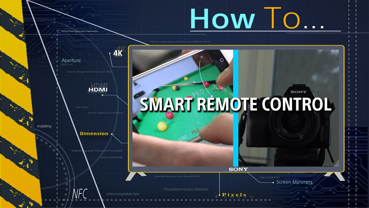 How to: Use the Sony PlayMemories Smart Remote Control app - YouTube