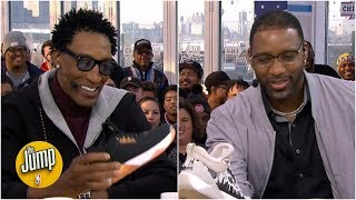 Tracy McGrady loves Spencer Dinwiddie's shoes, but doesn't want to get fined | The Jump