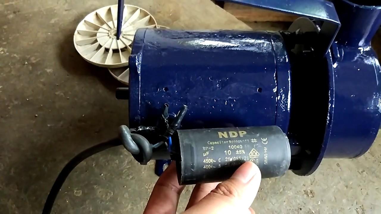 Kapasitor Pompa Air Modifikasi Penyimpan Tegangan Listrik