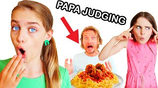 PAPA JUDGES PASTA TWIN TELEPATHY Challenge By The Norris Nuts