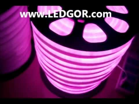 Pink color led neon fex hose led neon rope light outdoor use pink color led neon fex hose led neon rope light outdoor use avaiable 220v 110v ledgor youtube aloadofball Images