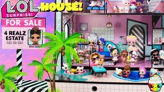 LOL House LOL dolls move into HUGE LOL Mansion with Swimming Pool Hot Tub Cupcake Kids Club