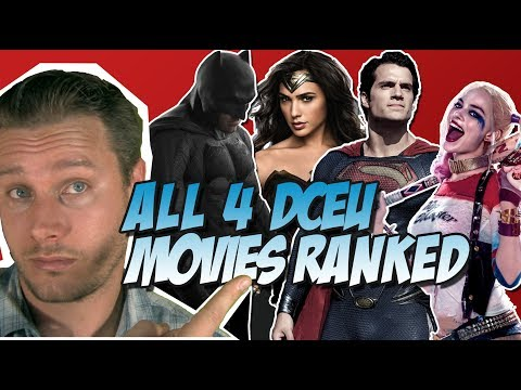 All Four DCEU Movies Ranked From Worst to Best! (Ranking the DC Extended Universe w/ Wonder Woman)