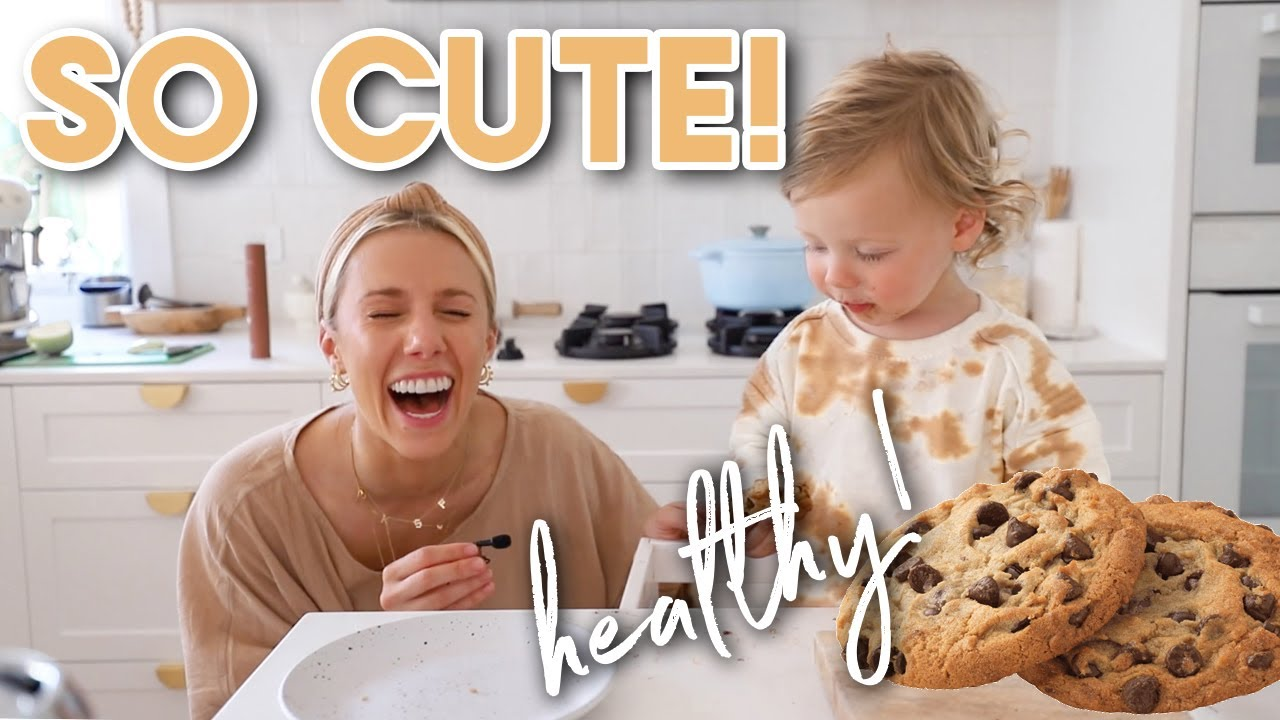 Cooking with my Toddler!! HEALTHY & SIMPLE Choc Chip Cookies (no gluten or dairy)