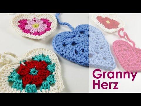 nadelspiel Adventskalender 2014 * 15. Dezember * Häkeln Granny Herz ...