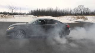 Straight Pipe Lexus ISF Burnout