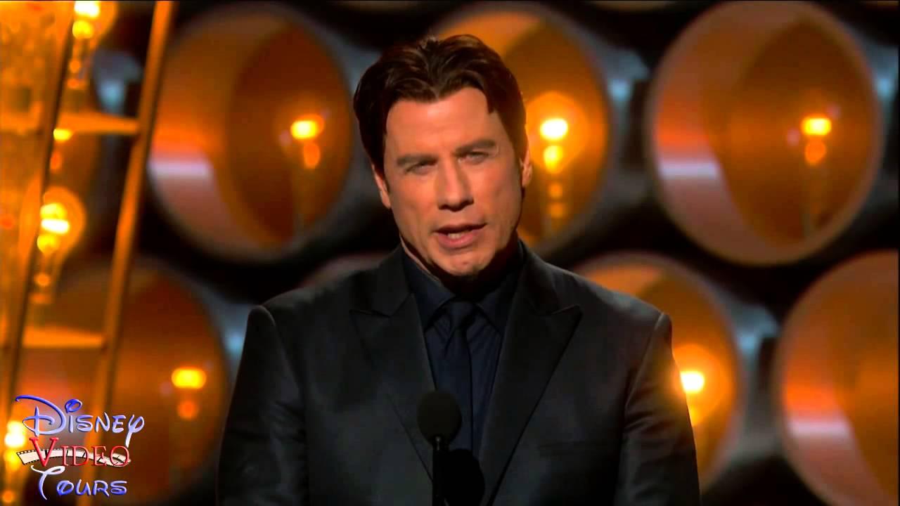 John Travolta Introduces Idina Menzel Oscars Fail - YouTube