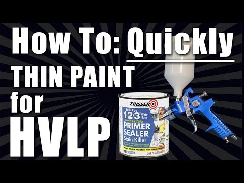 How to: Quickly Thin Paint to Spray Through a HVLP Gun