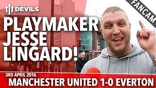 Playmaker Jesse Lingard! | Manchester United 1-0 Everton | FANCAM