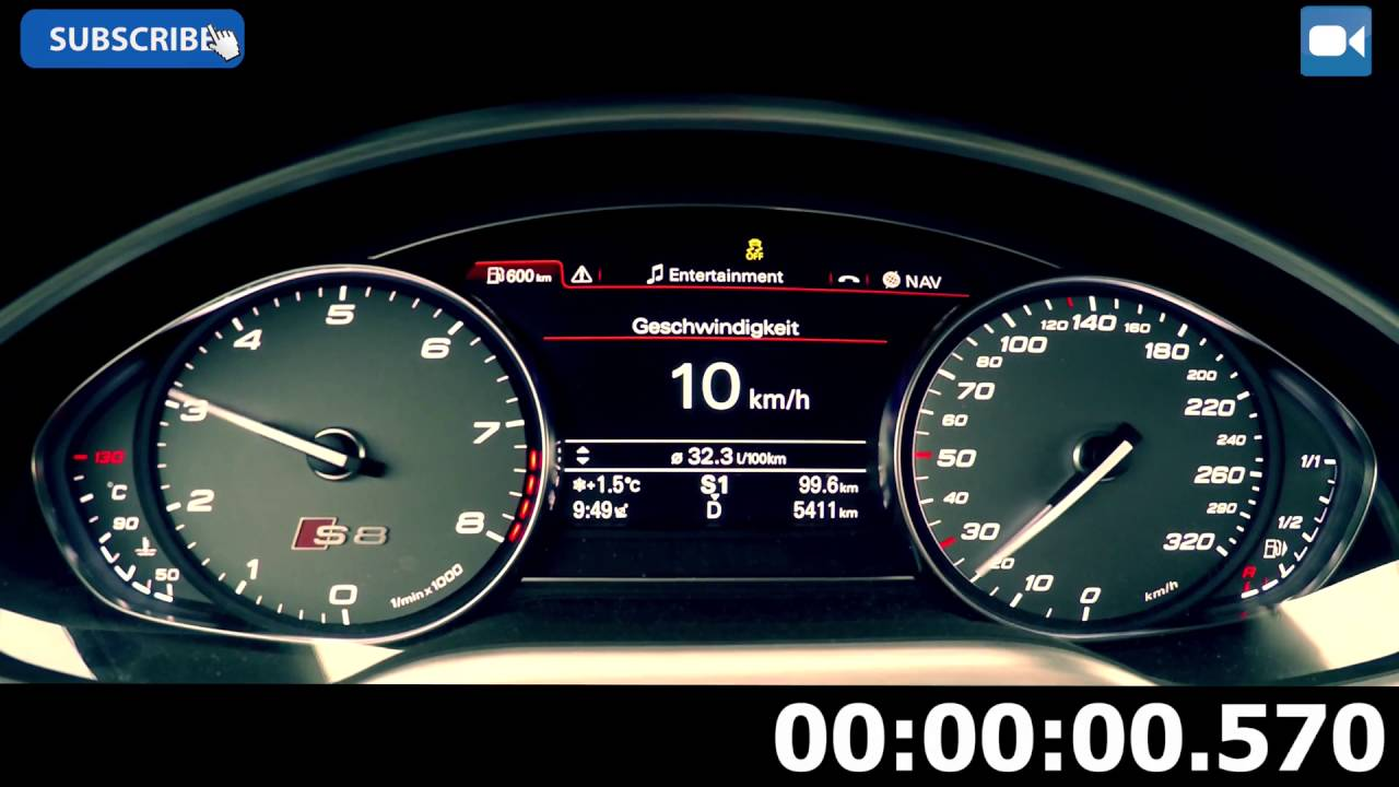 Audi Rs8 Tfsi 0 280km H Youtube