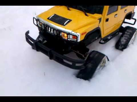 Radioshack Rc Hummer 1 10 Scale Mattracks In Snow Youtube