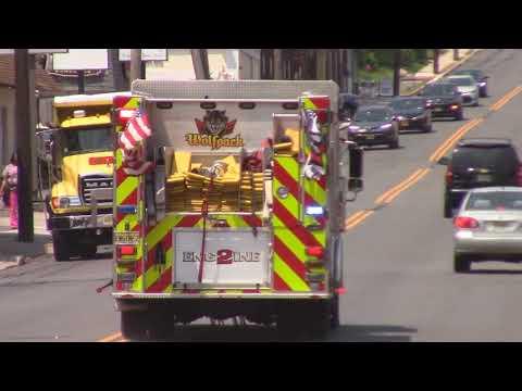 North Arlington, Nj Fire Department Engine 2 Responding On Belleville Turnpike
