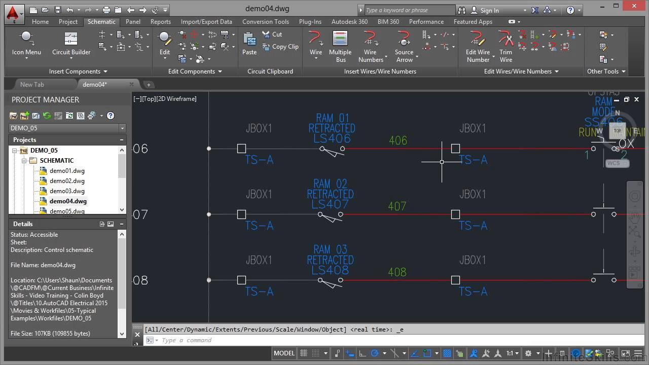 autocad electrical 2015 tutorial logic ladder drawings [ 1280 x 720 Pixel ]