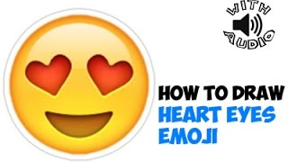 Drawing: How to Draw Heart Eyes Emoji or Love Emoji