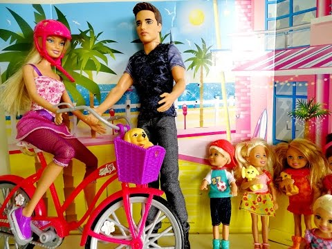 Barbie Glam Bike and Barbie Chelsea Barbie Ken Ryan - Barbie Collect