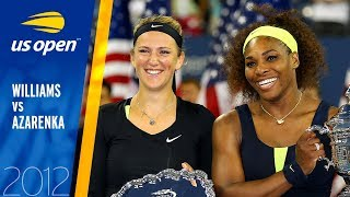 Serena Williams vs. Victoria Azarenka | 2012 US Open Final | Full Match