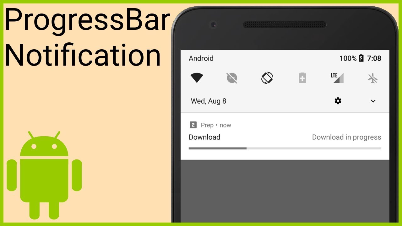 Notifications Tutorial Part 6 - PROGRESS BAR NOTIFICATION - Android Studio  Tutorial