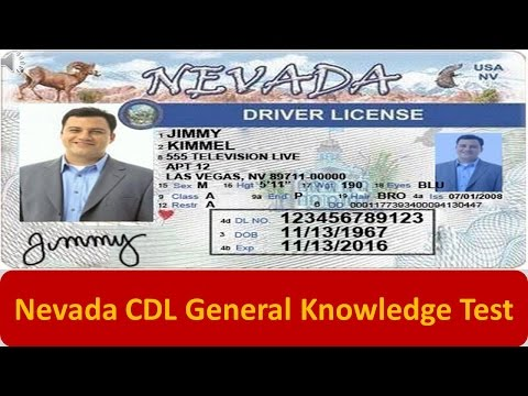 Nevada CDL General Knowledge Test