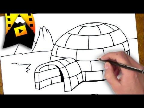 como dibujar un iglu   como dibujar un iglu paso a paso - YouTube
