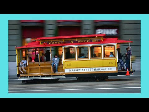 How to turn a cable car (tram) around (SAN FRANCISCO, California)