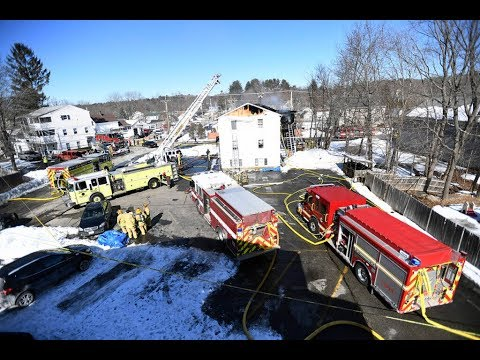 1 firefighter is dead and 6 people were injured in a building explosion in Maine, authorities say