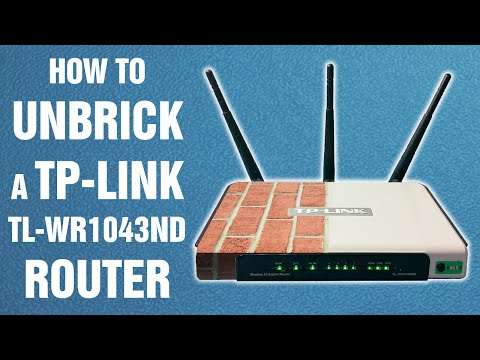 How to unbrick a TP-Link TL-WR1043ND router (re-uploaded) || How-to-fix tutorial