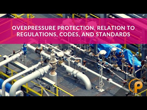 Overpressure Protection, Relation to Regulations, Codes, and