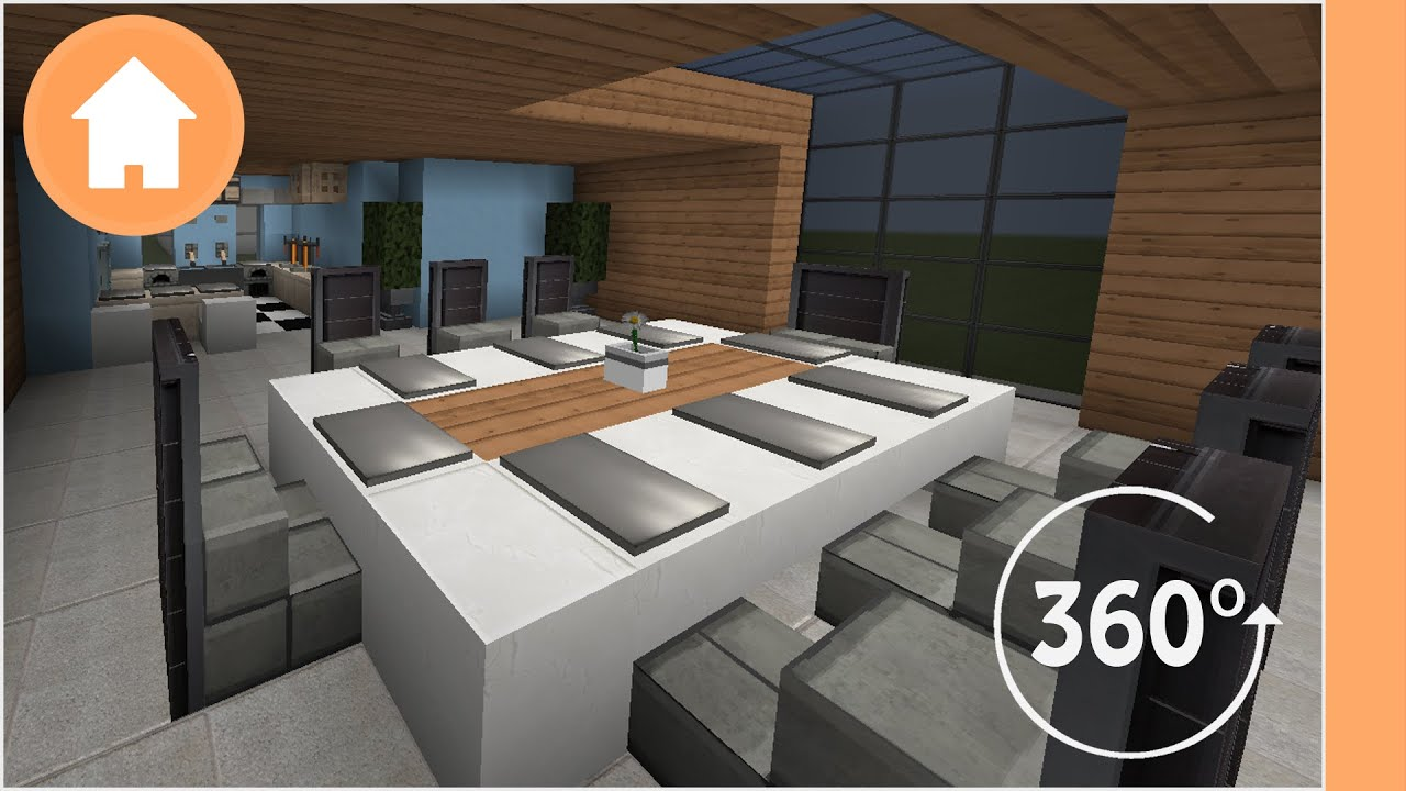 Minecraft Kitchen Designs   360° Degree Minecraft Part 44