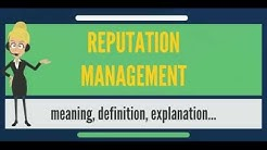 What is REPUTATION MANAGEMENT? What does REPUTATION MANAGEMENT mean?