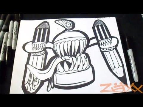 Disegno bombola spray graffiti youtube for Immagini di murales e graffiti