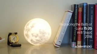 replacing the bulb of luna in 8 steps 15cm and 20cm