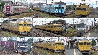 【JR山陽本線】日曜朝の庭瀬駅にやってくる列車① 7時~8時半頃